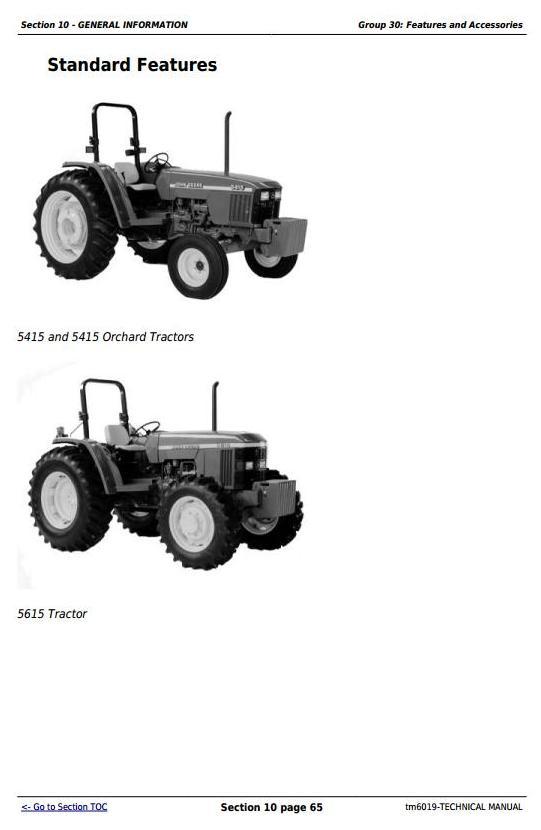 TM6019 - John Deere Tractors 5415, 5415N, 5415H, 5615, 5615HC, 5715, 5715HC All Inclusive Technical Manual - 2