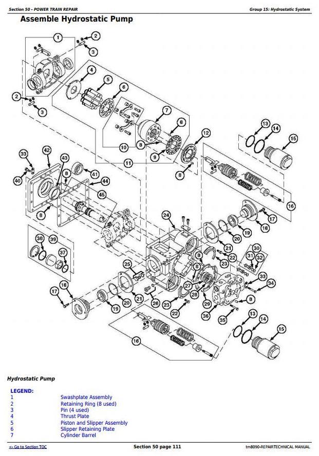 TM8090 - John Deere 9660, 9540i, 9560i, 9580i, 9640i, 9660i, 9680i WTS, 9780i CTS Combines Repair Manual - 2