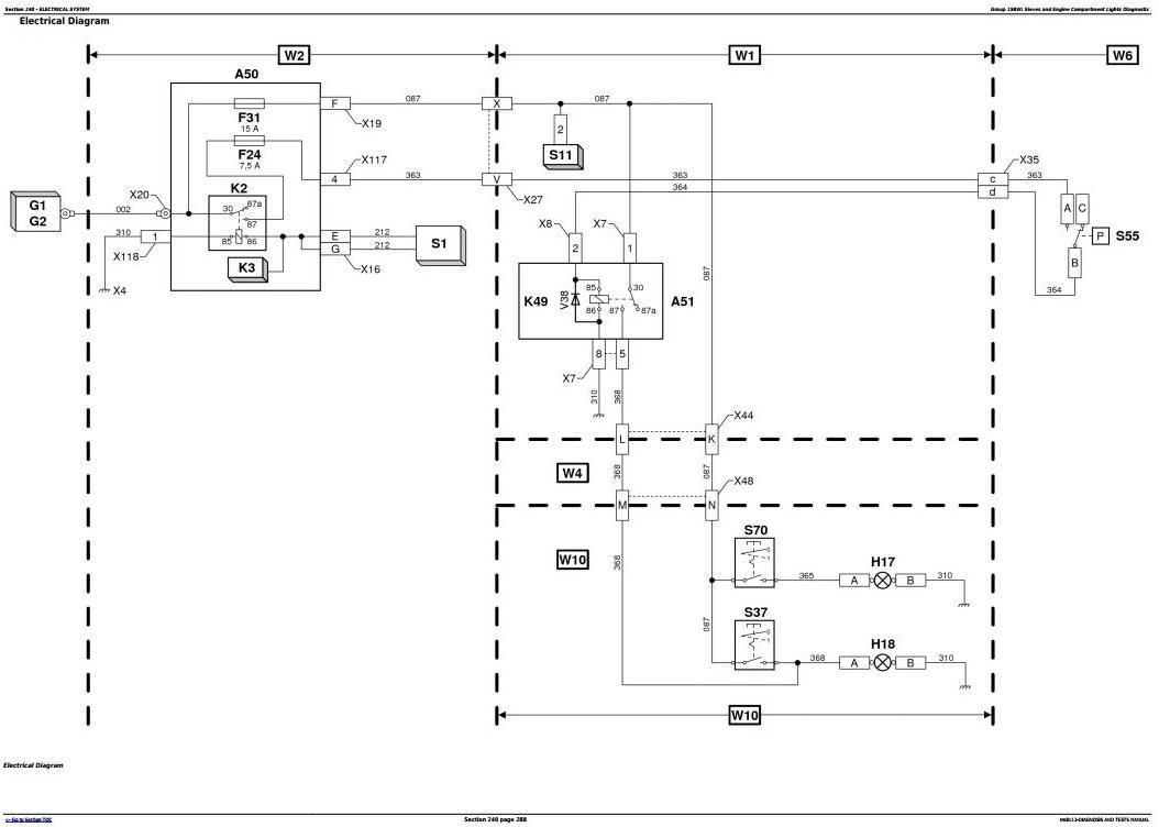 TM8113 - John Deere 1450, 1550 (, CWS, WTS) Combines (054551B- ) Diagnostic and Tests Service Manual - 2