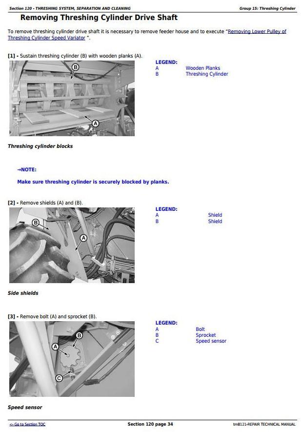 TM8121 - John Deere Combines 1450, 1550, 1450CWS, 1550CWS, 1450WTS, 1550WTS Service Repair Manual - 2
