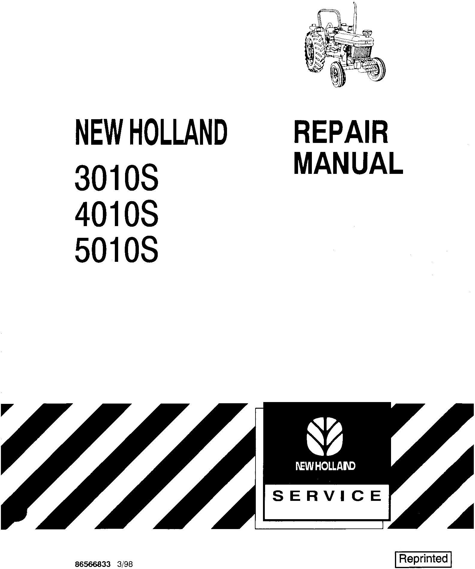 New Holland 3010S, 4010S, 5010S Tractor Service Manual - 19585