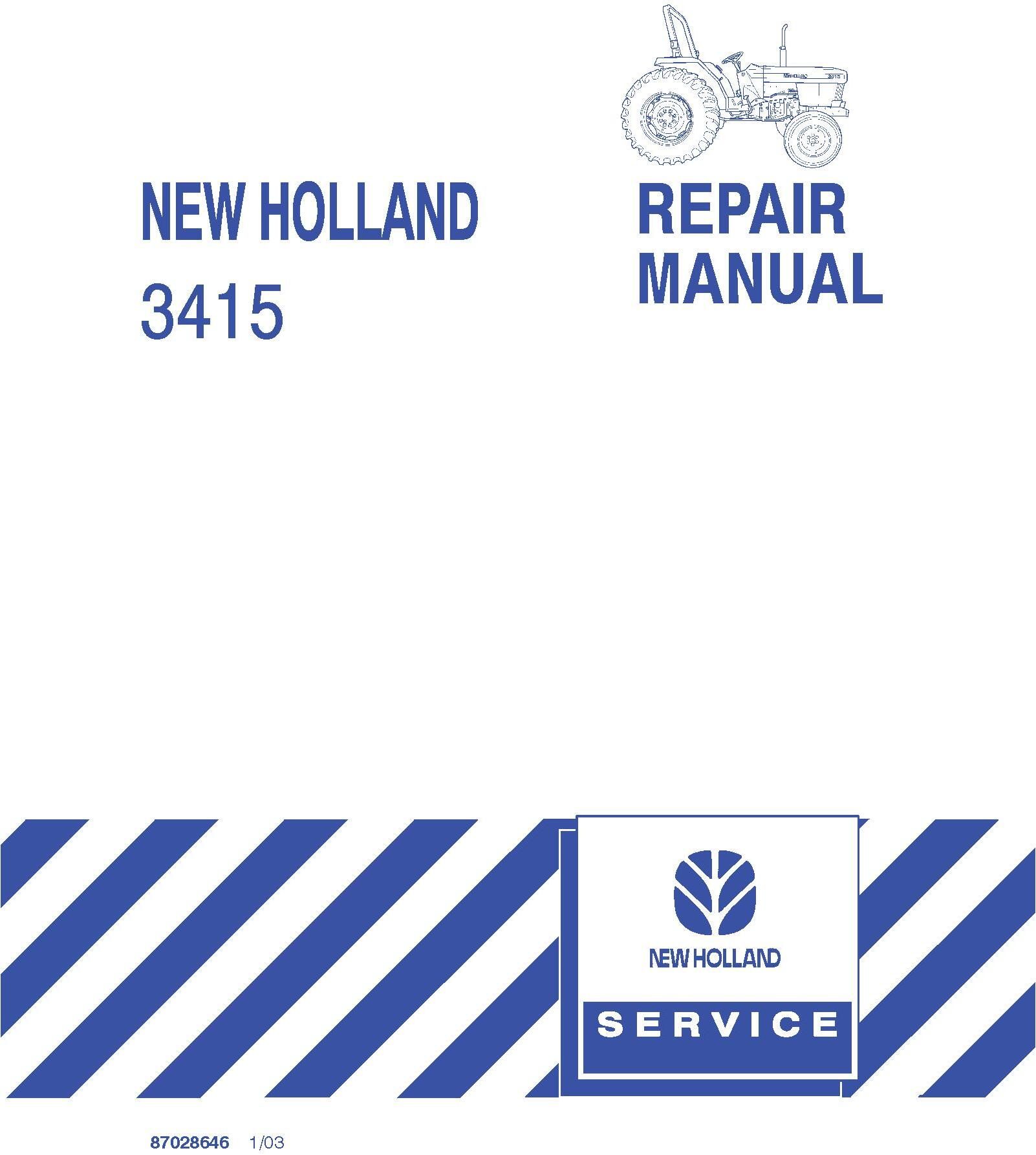 New Holland 3415 Compact Tractor Service Repair Manual - 19597