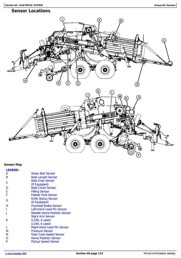 TM133219 - John Deere L330, L330C, L340, L340C Hay&forage Large Square Balers Technical Service Manual - 18176