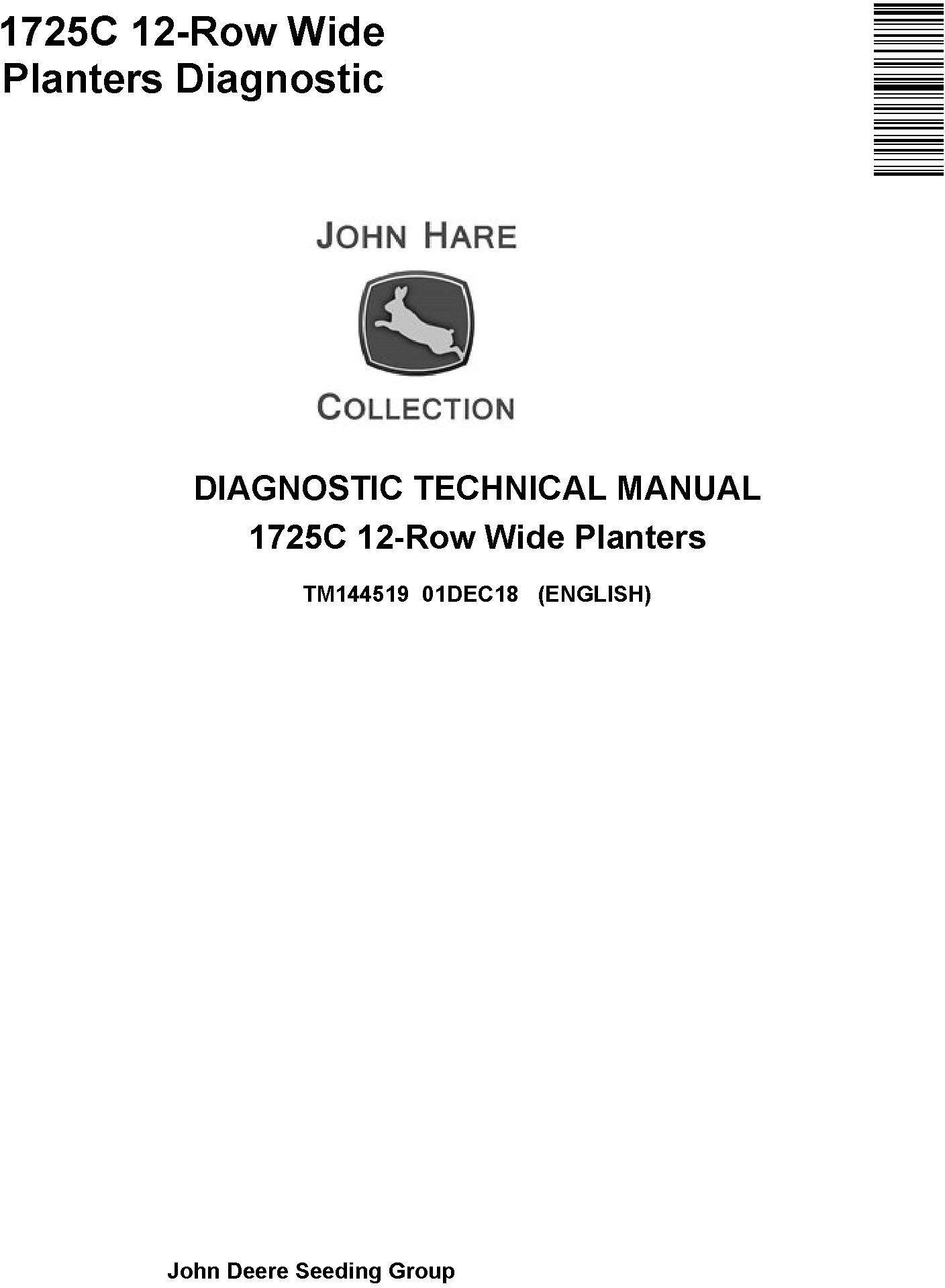 John Deere 1725C 12-Row Wide Planters Diagnostic Technical Service Manual (TM144519) - 19268