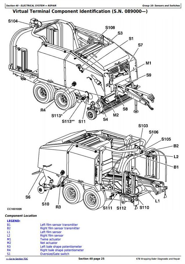 TM3301 - John Deere 678 Hay and Forage Wrapping Baler Diagnostic and Repair Technical Manual - 18229