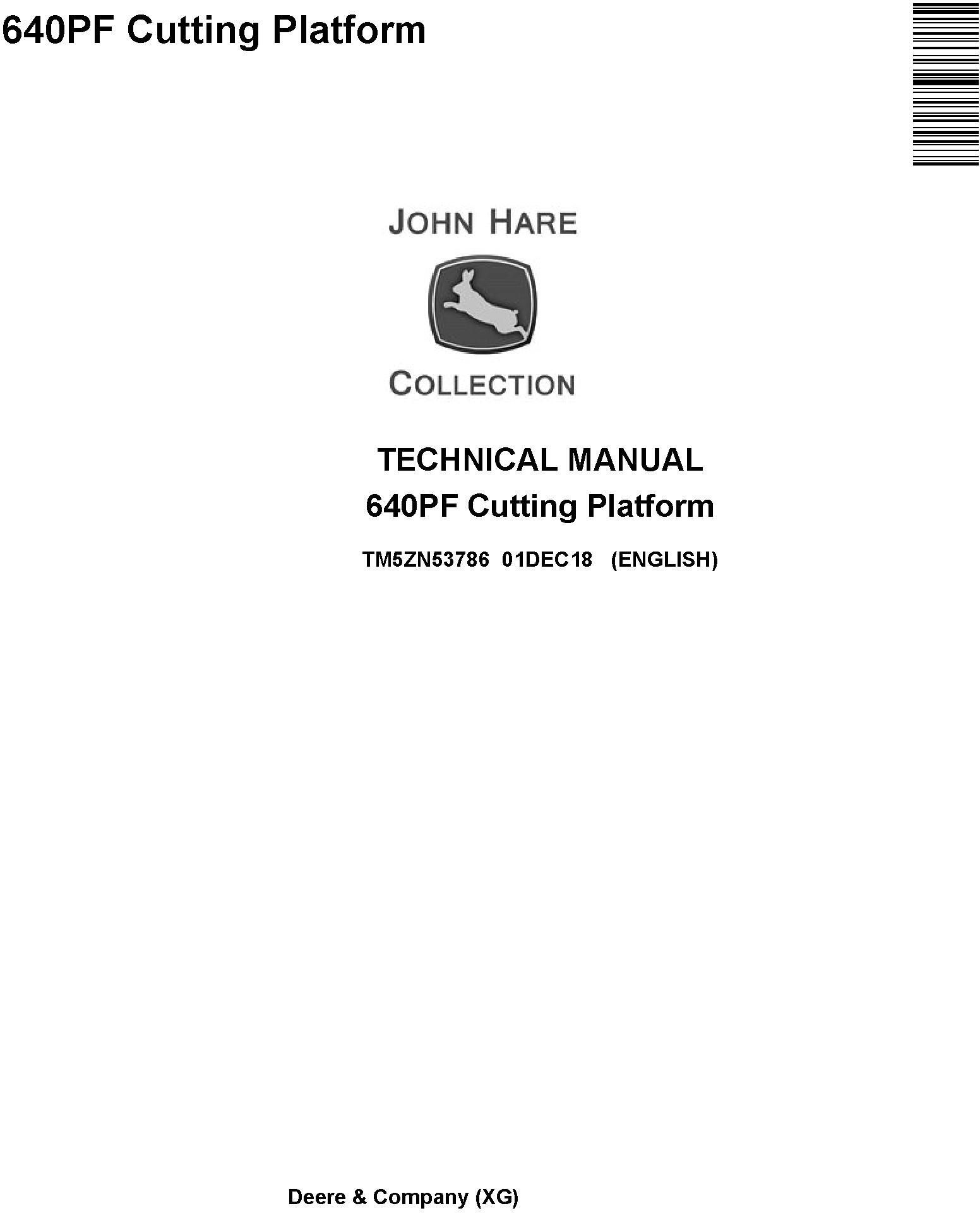 John Deere 640PF Cutting Platform Technical Service Manual (TM5ZN53786) - 19283