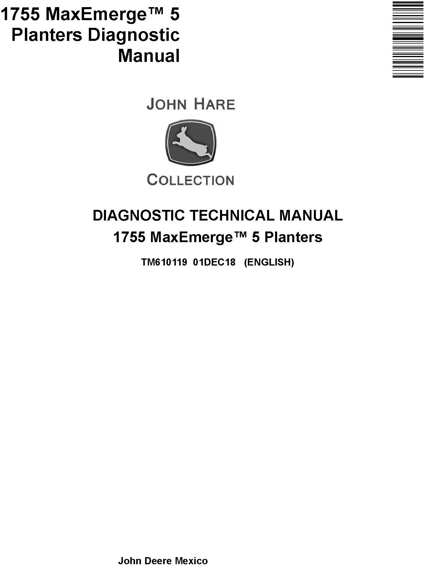 JD John Deere 1755 MaxEmerge 5 Planters Diagnostic Technical Service Manual (TM610119) - 19278