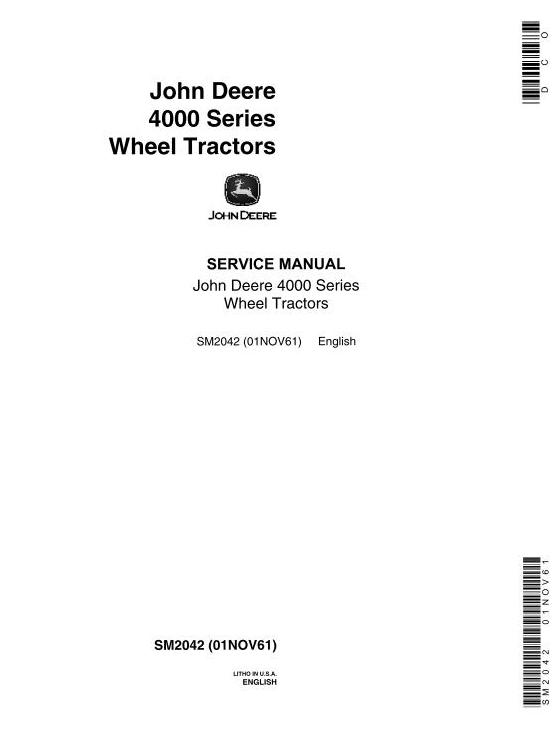 SM2042 - John Deere 4010 Tractors Service Technical Manual - 18491