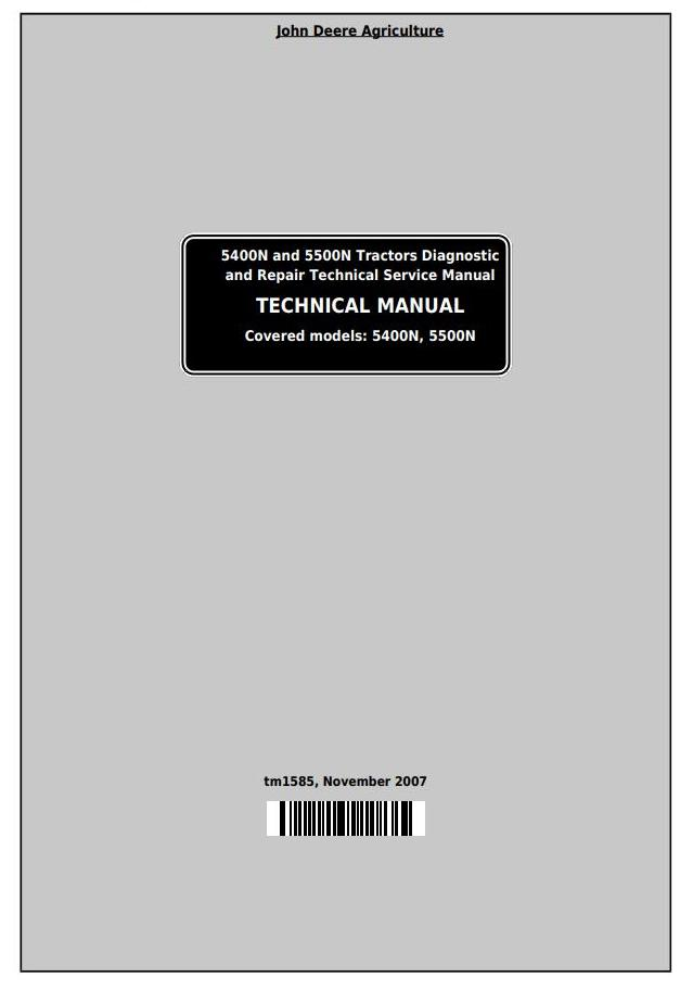 TM1585 - John Deere Tractors 5400N and 5500N All Inclusive Technical Service Manual - 18543