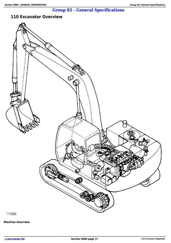 TM1657 - John Deere 110 Excavator Diagnostic Operation and Test Service Manual - 17726
