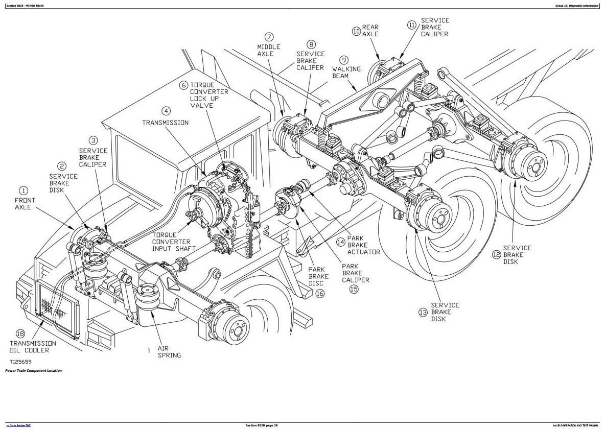 TM1813 - John Deere Bell B30C Articulated Dump Truck Diagnostic, Operation and Test Service Manual - 18899