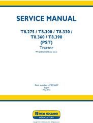 New Holland T8.275, T8.300, T8.330, T8.360, T8.390 (PST) Tractor (PIN ZCRC02583-) Service Manual