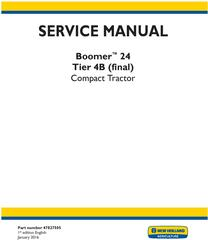 New Holland Boomer 24 Tier 4B final Tractor Complete Service Manual (North America)