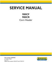 New Holland 980CF, 980CR Corn header Service Manual