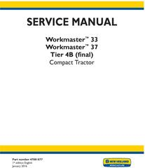 John Deere New Holland Workmaster 33, 37 Tier 4B (final) Tractor Complete Service Manual (North America)