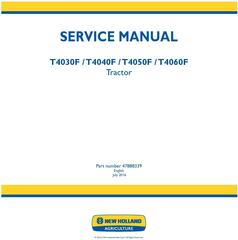 New Holland T4030F, T4040F, T4050F, T4060F Tractor Service Manual