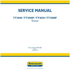 New Holland TT3840, TT3840F, TT4030, TT3880F Tractor Service Manual (Latin America)