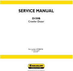 New Holland D150B XLT Crawler Dozer Service Manual (Brasil)