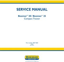 New Holland Boomer 20, Boomer 25 Compact Tractor Service Manual (Europe)