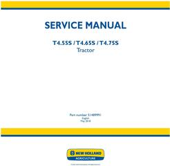 New Holland T4.55S, T4.65S, T4.75S Tractor Service Manual (Australia, New Zeland)