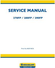New Holland 270FP, 280FP, 290FP Forage Equipment Headers Service Manual