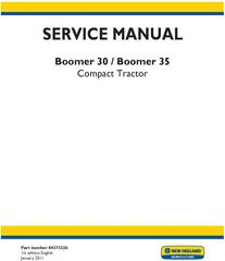 New Holland Boomer 30, Boomer 35 Compact Tractor Service Manual