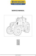New Holland T8.275, T8.300, T8.330, T8.360, T8.390 Agricultural Tractor Service Manual (08/2011)