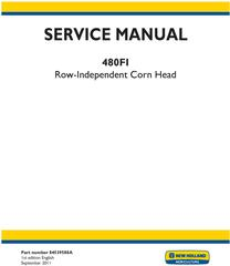 New Holland 480FI Row Independent Corn Head Service Manual