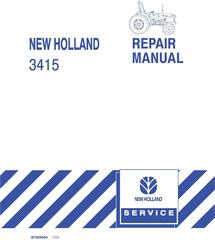 New Holland 3415 Compact Tractor Service Repair Manual