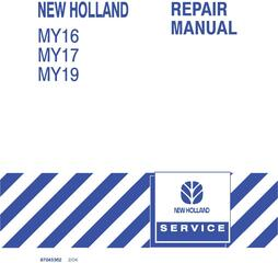 New Holland MY16, MY17, MY19 Yard Tractor Service Manual