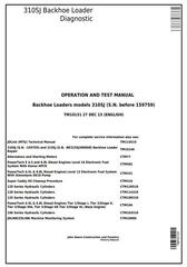 TM10131 - John Deere 310SJ Backhoe Loader (SN.-159759) Diagnostic, Operation and Test Service Manual