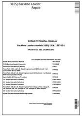 TM10849 - John Deere 310SJ Backhoe Loader (S.N. from 159760) Service Repair Technical Manual