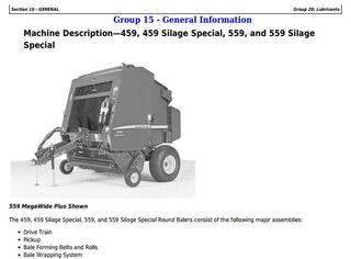 TM121119 - John Deere 459s, 559s Silage Special; 459, 559 Round Balers All Inclusive Technical Manual