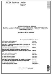 TM12466 - John Deere 310SK (T3/S3A) Backhoe Loader (SN: D219607-) Service Repair Technical Manual