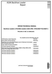 TM12494 - John Deere 410K Backhoe Loader (SN: from 219607) (iT4/S3B) Service Repair Technical Manual