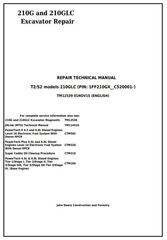 TM12539 - John Deere 210G and 210GLC (PIN: 1FF210GX__C520001-) T2/S2 Excavator Service Repair Manual