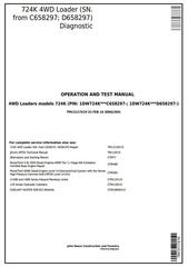 TM13117X19 - John Deere 724K 4WD Loader (SN.from C658297; D658297) Diagnostic & Test Service Manual