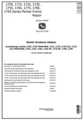 TM131319 - John Deere 1705, 1715, 1725, 1735, 1755, 1765, 1775, 1785, 1795 Planter Frame Repair Manual