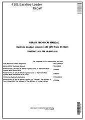 TM13306X19 - John Deere 410L Backhoe Loader (SN C273920-; D273920-) Service Repair Technical Manual