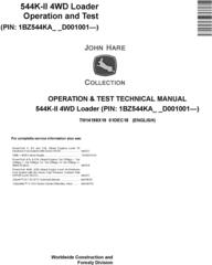 John Deere 544K-II (SN. D001001-) 4WD Loader Operation & Test Technical Service Manual (TM14198X19)