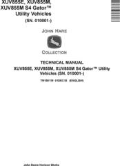 John Deere XUV855E XUV855M, XUV855M S4 Gator Utility Vehicles (SN.010001-) Technical Manual TM150119