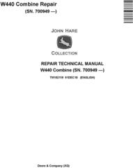 John Deere W440 Combine (SN.700949-) Repair Technical Manual (TM152119)