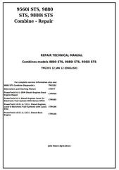 TM2201 - John Deere 9560i STS, 9880 STS, 9880i STS Combines Service Repair Technical Manual