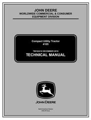 TM102419 - John Deere 4105 Compact Utility Tractors All Incliusive Technical Service Manual