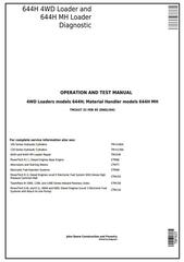 TM1637 - John Deere 644H 4WD Loader and 644H MH Material Handler Diagnostic and Test Service Manual