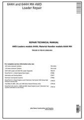 TM1638 - John Deere 644H 4WD Loader and 644H MH Material Handler Service Repair Technical Manual