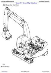 TM1657 - John Deere 110 Excavator Diagnostic Operation and Test Service Manual