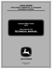 TM2074 - John Deere 2210 Compact Utility Tractors (SN. 110001-) Technical Service Manual