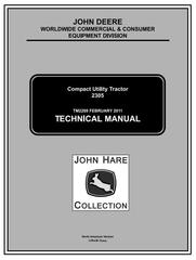 TM2289 - John Deere 2305 Compact Utility Tractors (SN. 120001-) Technical Service Manual