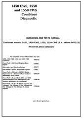 TM4699 - John Deere 1450, 1450CWS, 1550, 1550CWS Combines (S.N.-047353) Diagnosis & Tests Service Manual